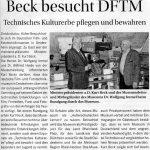 Artikel Kurt Beck Besuch im Museum